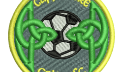 Cappamore Celtic FC Badge embroidered by Robin Archer