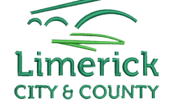 Limerick City & County Council logo embroidered by Robin Archer