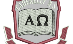 Caherelly NS badge embroidered by Robin Archer