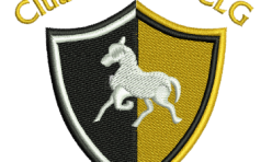 Cluain Larach CLG Badge embroidered by Robin Archer