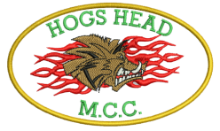 Hogs Head MCC badge embroidered by Robin Archer