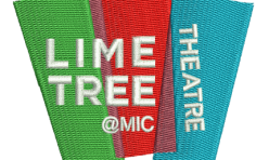 The Lime Tree Theatre badge embroidered by Robin Archer Limerick