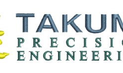 Takumi Engineering Company Logo embroidered by Robin Archer